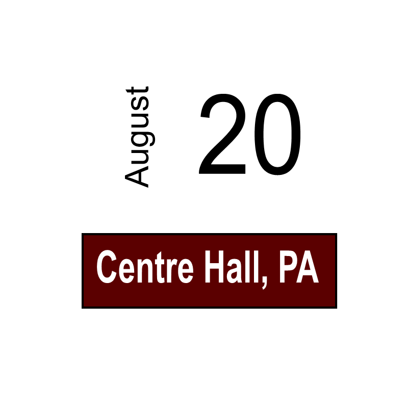 Centre Hall, PA August 20