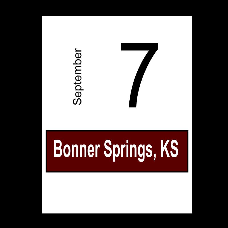 Bonner Springs, KS September 7