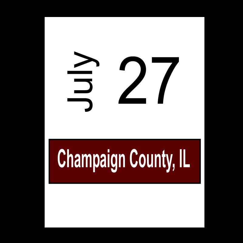 Champaign County, IL July 27