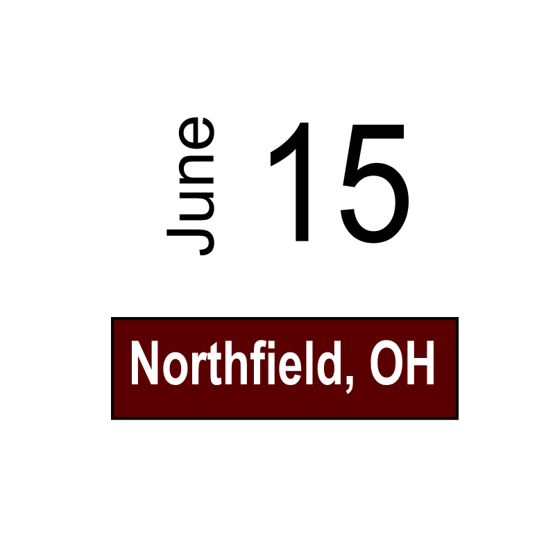 Northfield, OH June 15