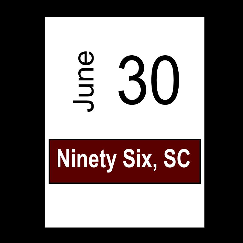 Ninety Six, SC June 30