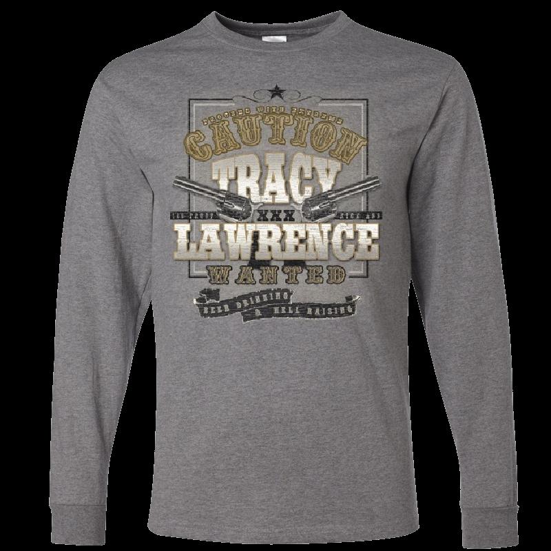 Tracy Lawrence Long Sleeve Oxford Grey Tee