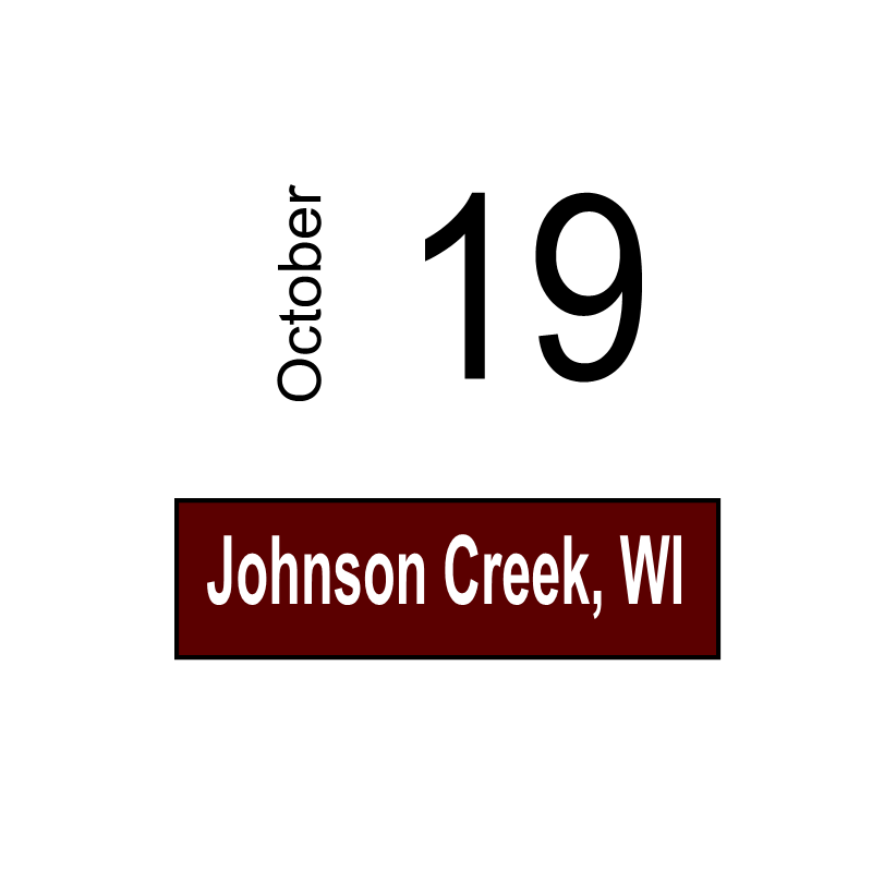Johnson Creek, WI October 19