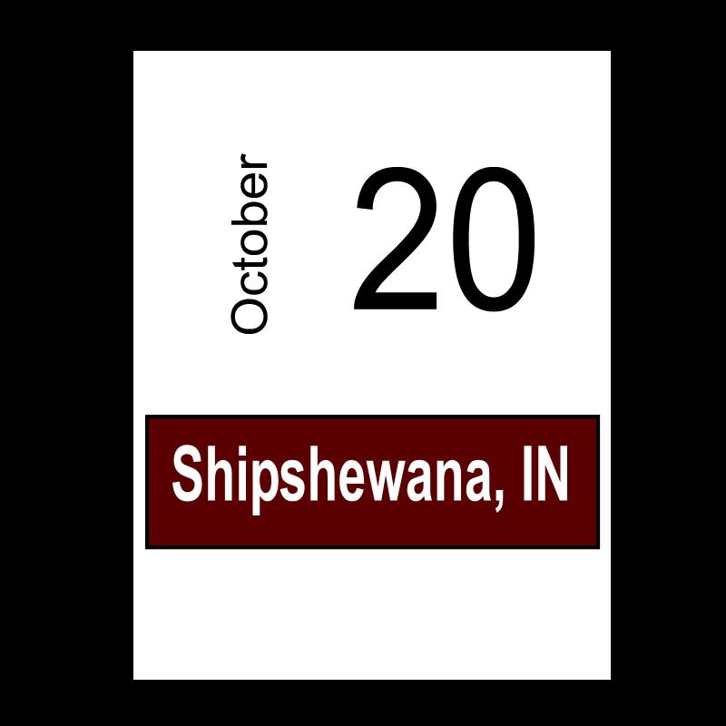 Shipshewana, IN October 20