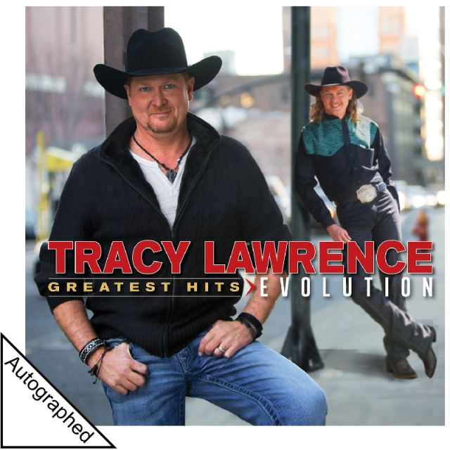 Tracy Lawrence AUTOGRAPHED CD- Greatest Hits Evolution