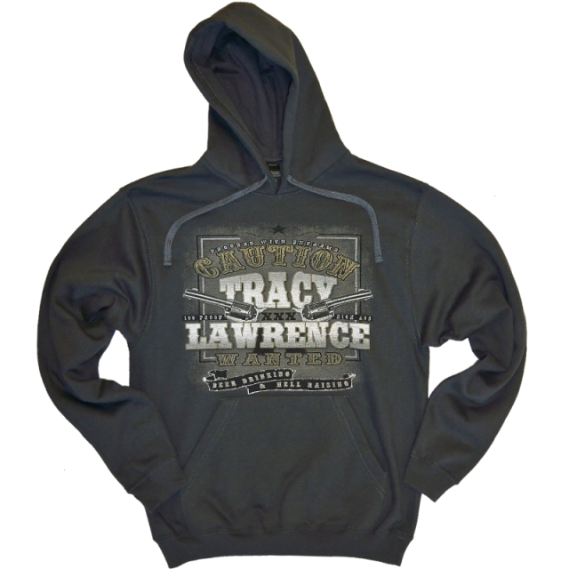 Tracy Lawrence Charcoal Hoodie