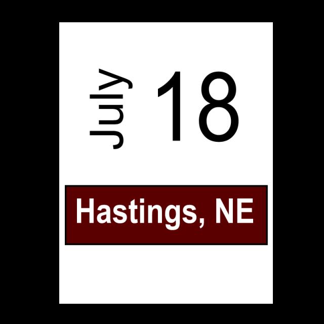 Hastings, NE July 18