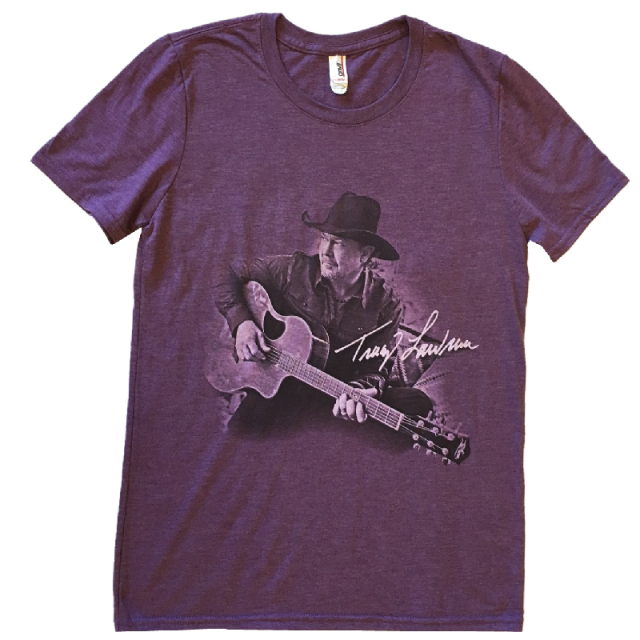 Tracy Lawrence Ladies Heather Purple Tee