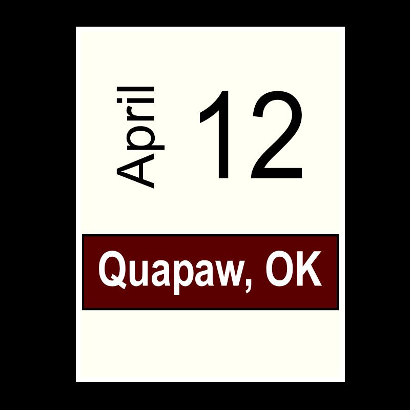 Quapaw, OK- April 12