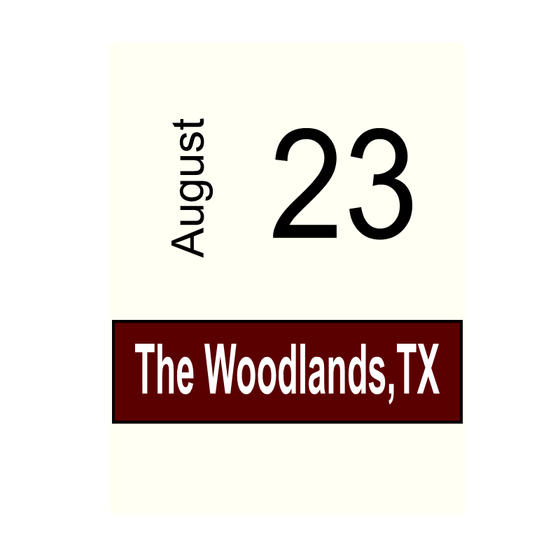 The Woodlands, TX- August 23
