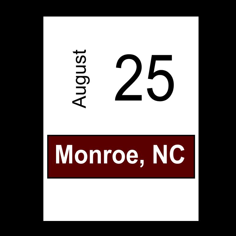 Monroe, NC August 25