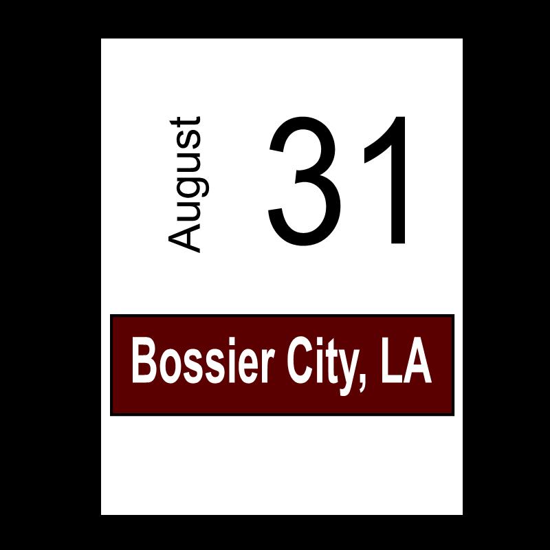 Bossier City, LA- August 31