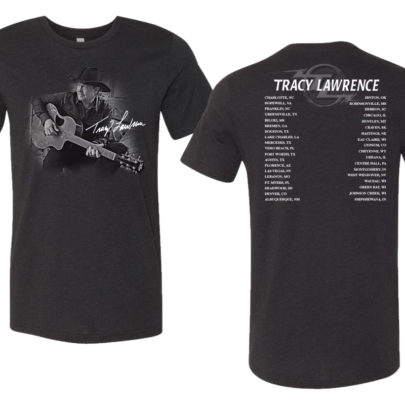 Tracy Lawrence Black Tritone Photo Tee