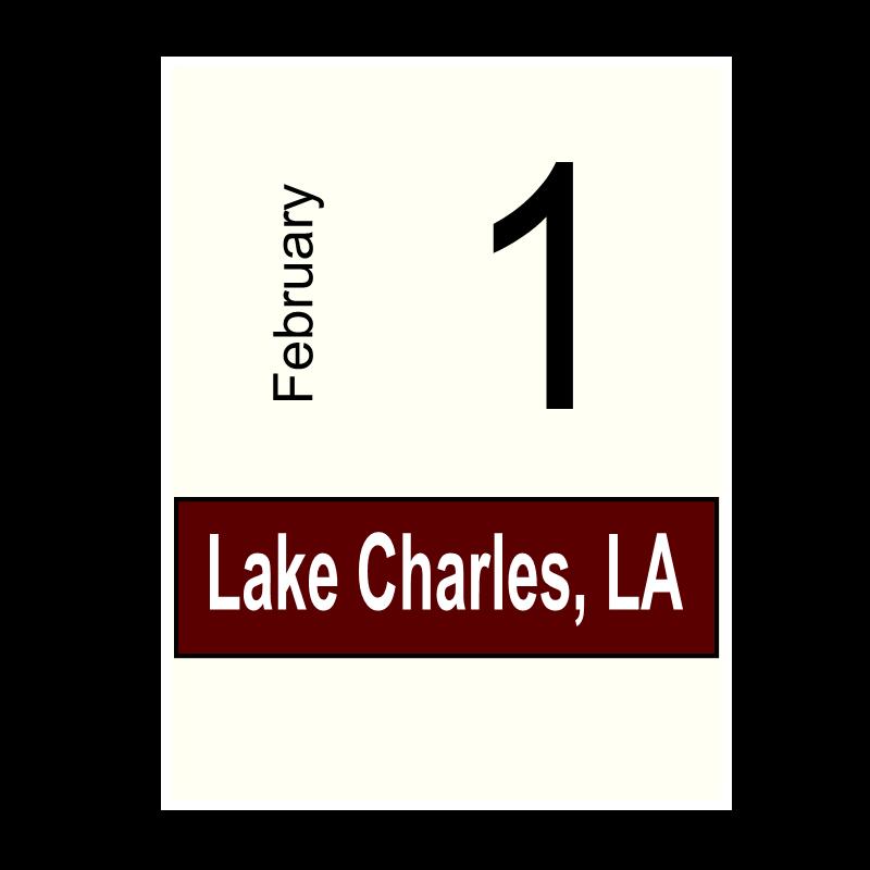 Lake Charles, LA- February 1