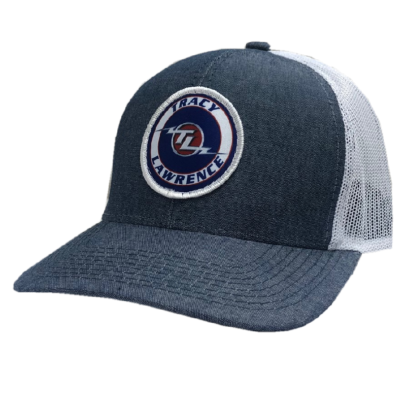 Tracy Lawrence Heather Navy and White Ballcap