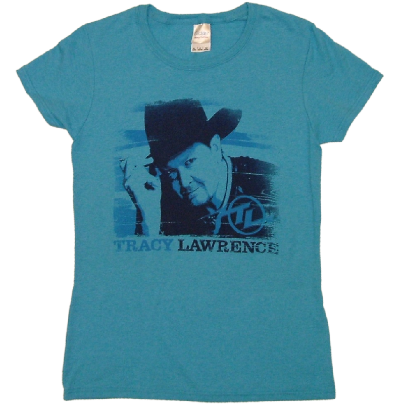 Tracy Lawrence Ladies Heather Sapphire Tee