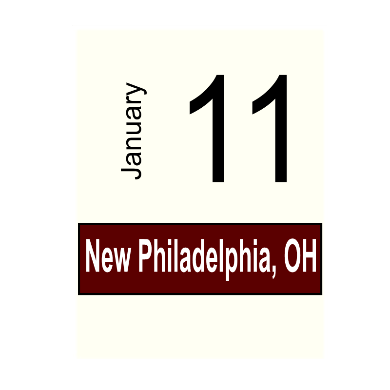 New Philadelphia, OH- January 11