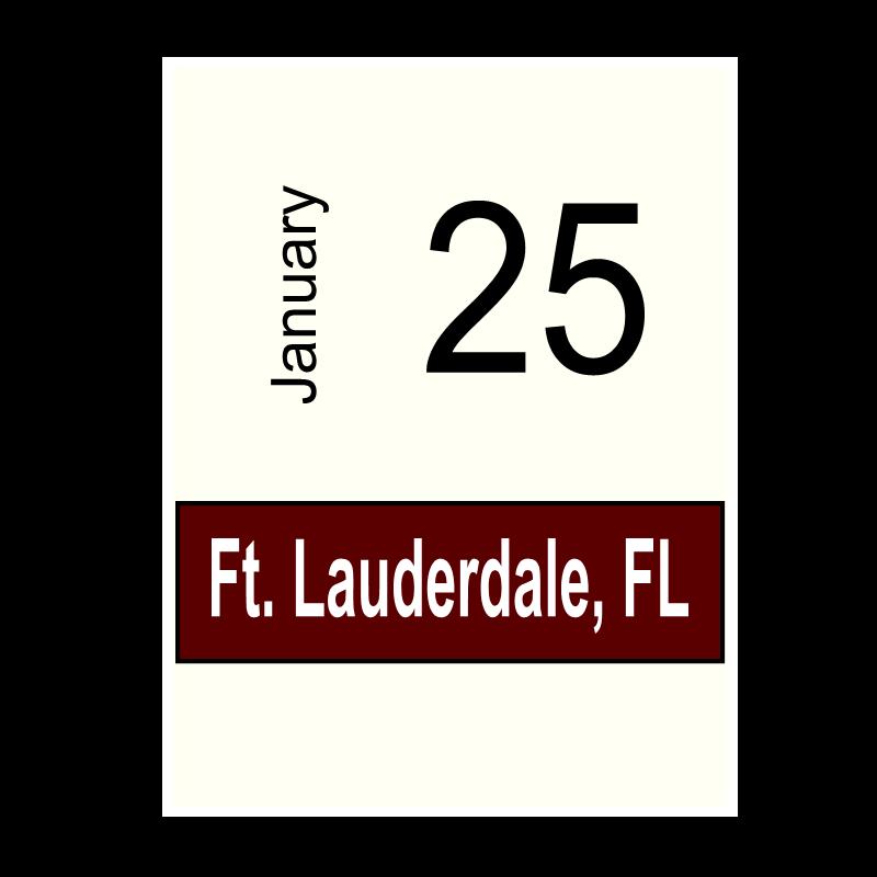Ft Lauderdale Events January 2020.Ft Lauderdale Fl January 25 2020