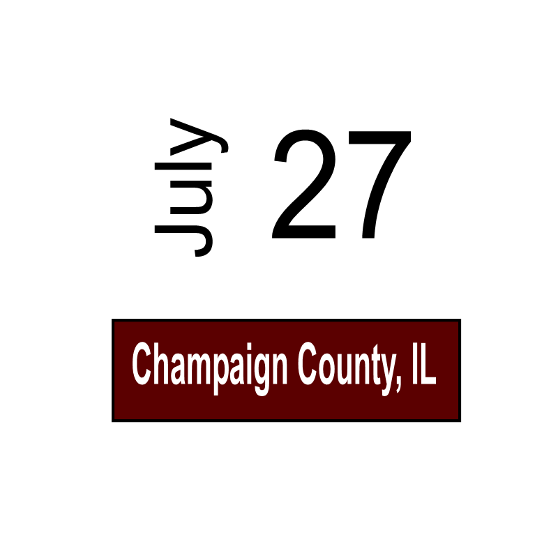 Champaign County, IL July 27