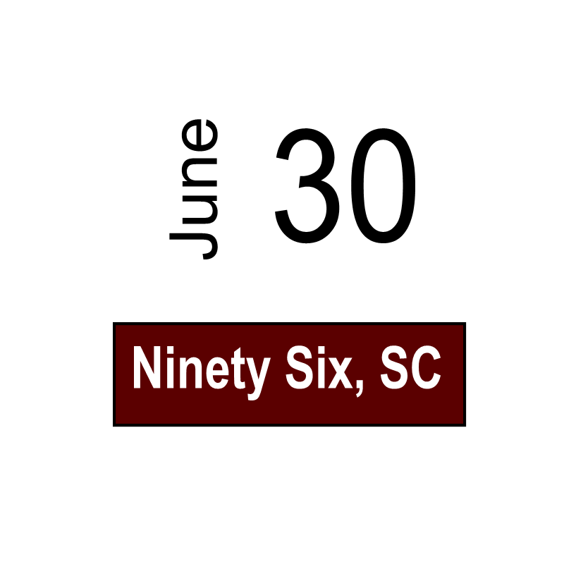 Ninety Six, SC June 30