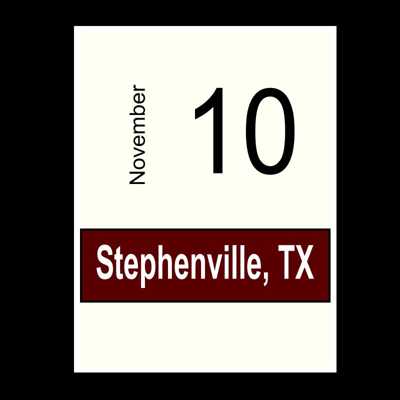 Stephenville, TX- November 10