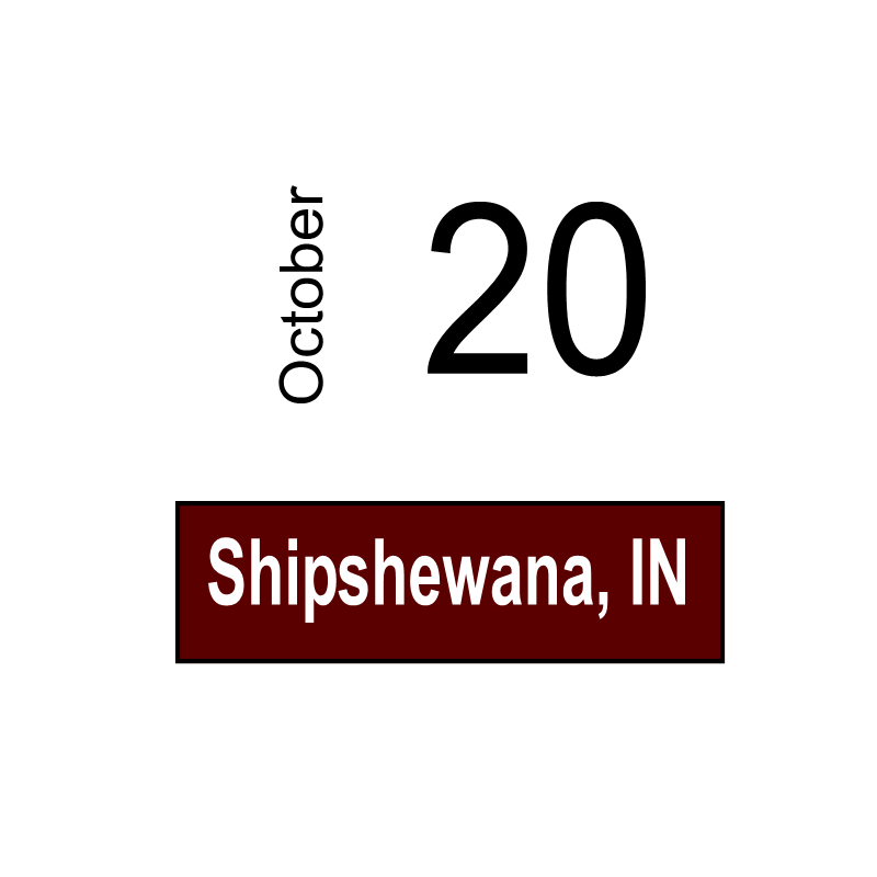 Shipshewana, IN October 20