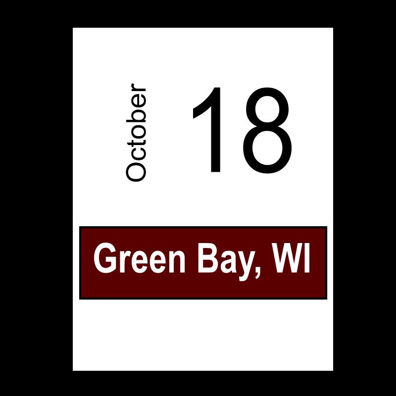 Green Bay, WI October 18