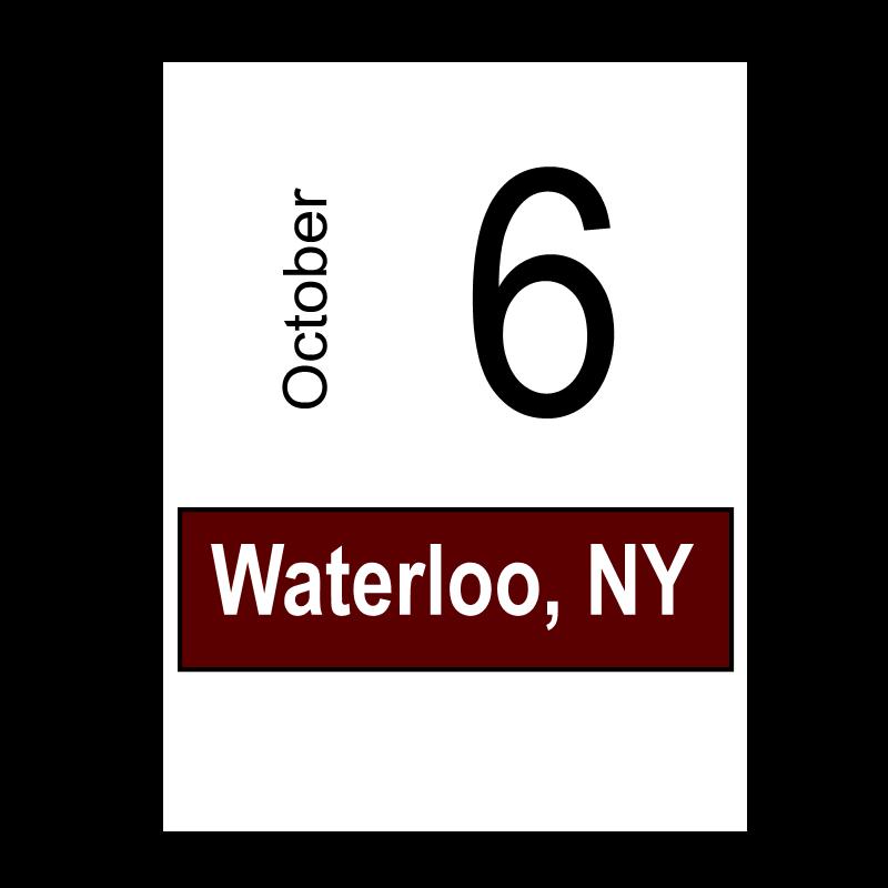 Waterloo, NY- October 6