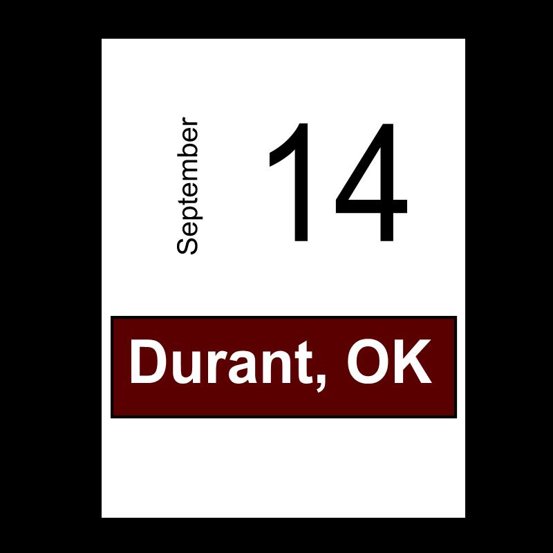 Durant, OK- September 14