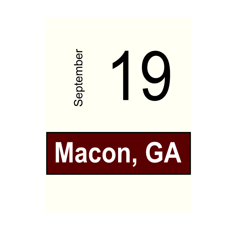 Macon, GA- September 19