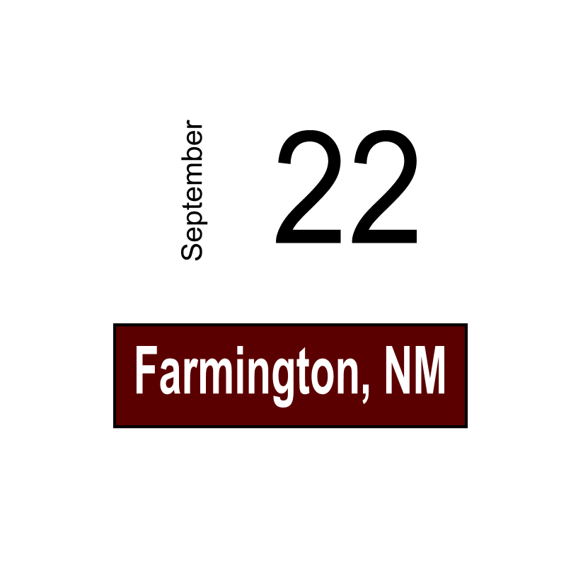 Farmington, NM September 22