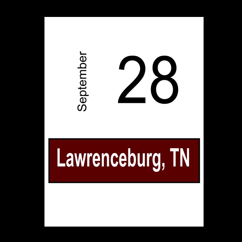Lawrenceburg, TN- September 28