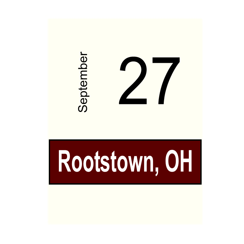 Rootstown, OH- September 27