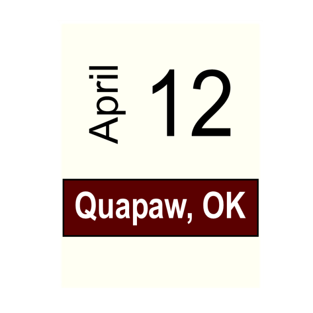 Quapaw, OK- April 12