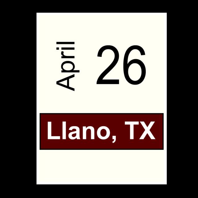 Llano, TX- April 26