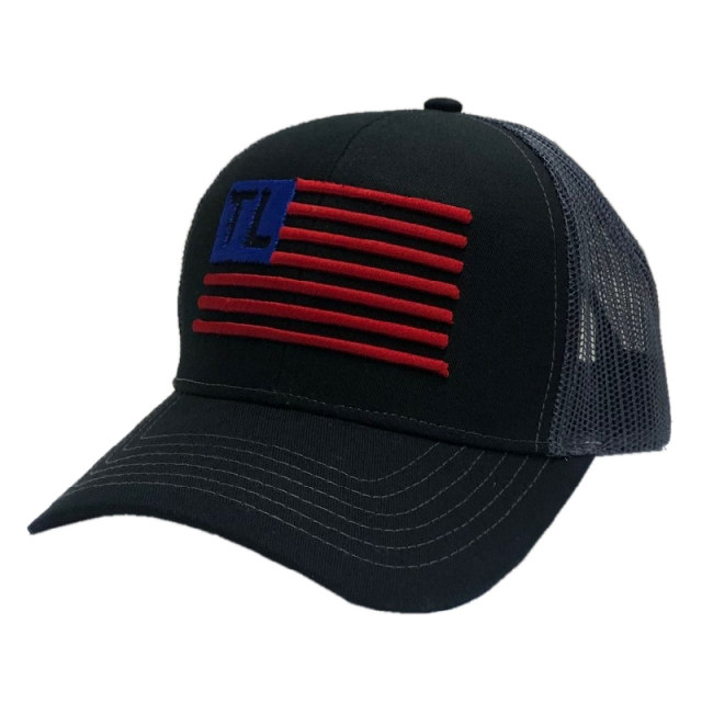 Tracy Lawrence Black and Charcoal Flag Ballcap