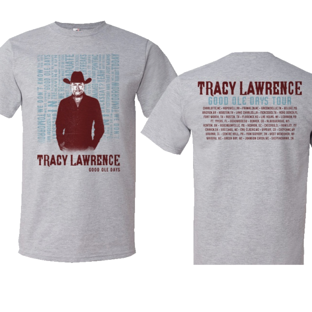 Tracy Lawrence Heather Grey Album Cover Tee