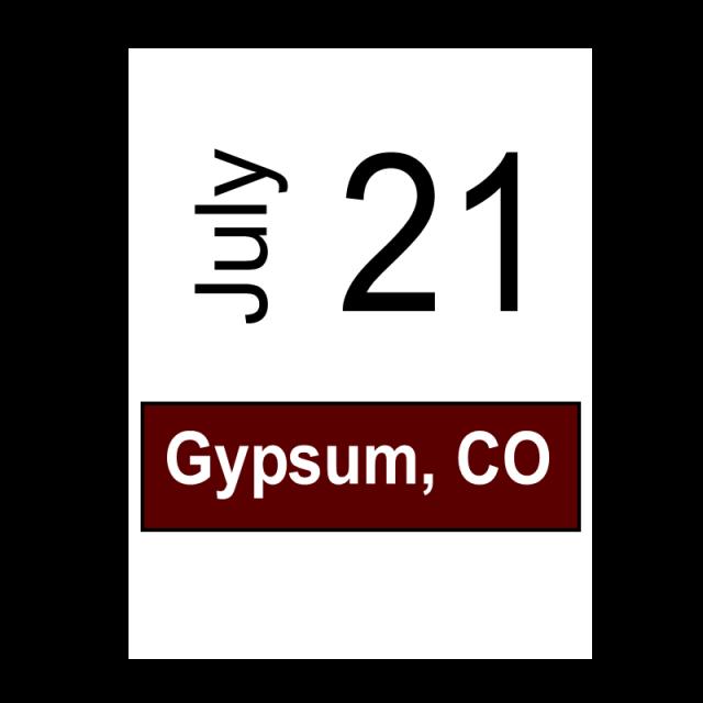 Gypsum, CO July 21