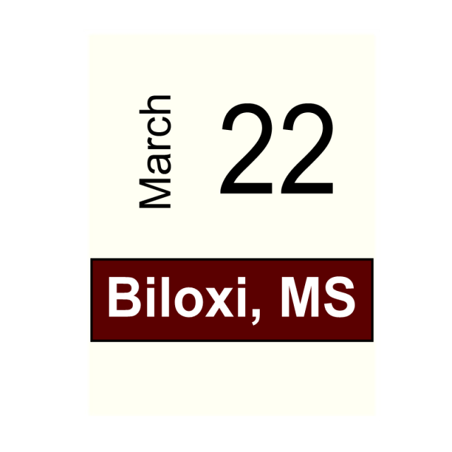 Biloxi, MS- March 22