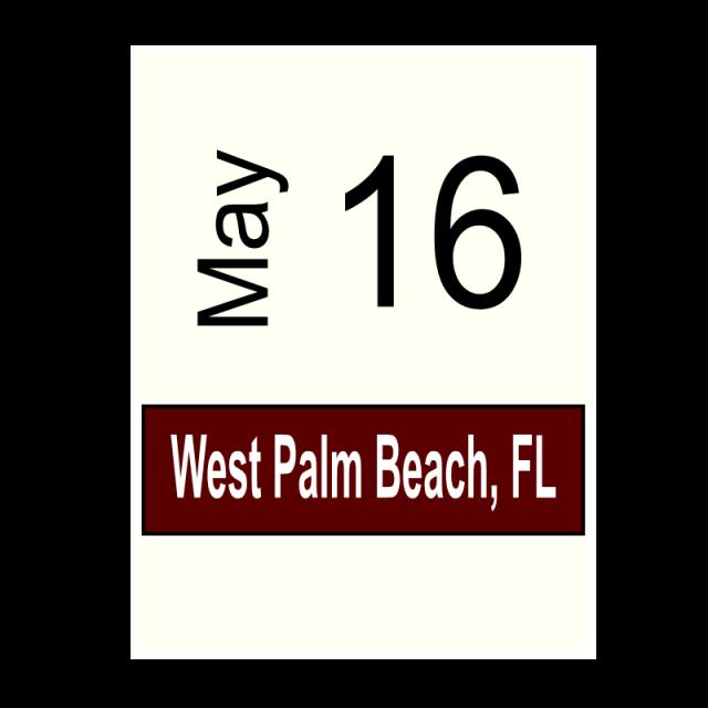 West Palm Beach, FL- May 16