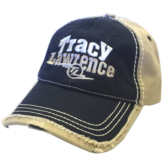 Tracy Lawrence Navy and Khaki Worn Ballcap