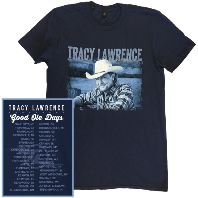 Tracy Lawrence Navy Good Ole Days Tour Tee