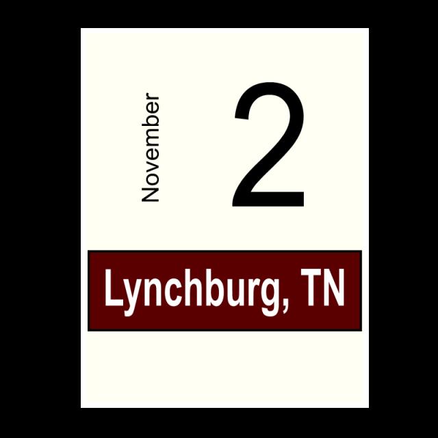 Lynchburg, TN- November 2