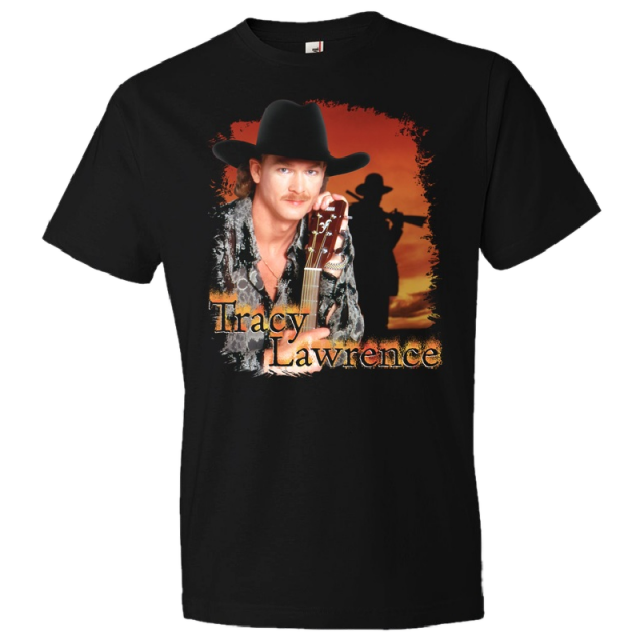 Tracy Lawrence 90's Retro Black Tee