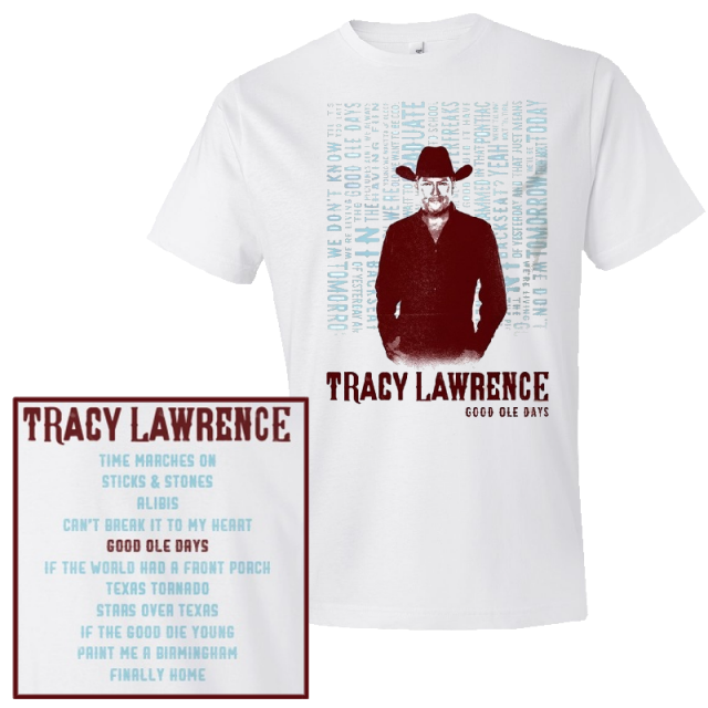 Tracy Lawrence White Album Cover Tee