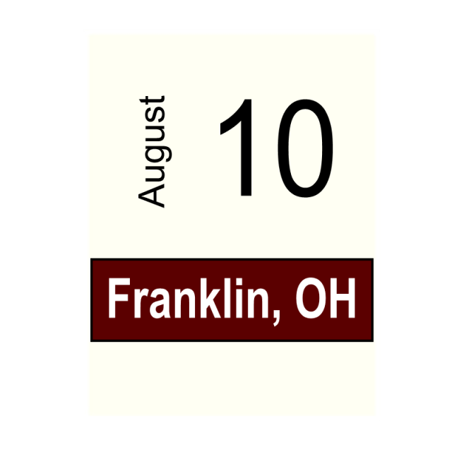 Franklin, OH- August 10