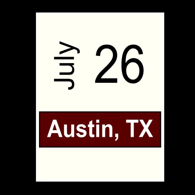 Austin, TX- July 26