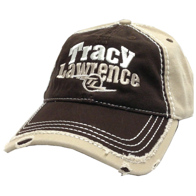 Tracy Lawrence Brown and Khaki Distressed Ballcap
