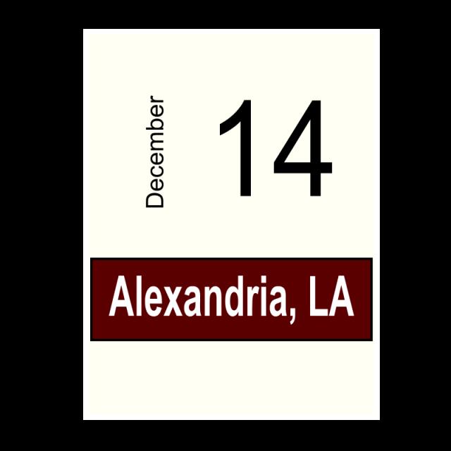 Alexandria, LA- December 14