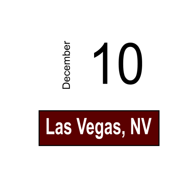 Las Vegas, NV- December 10
